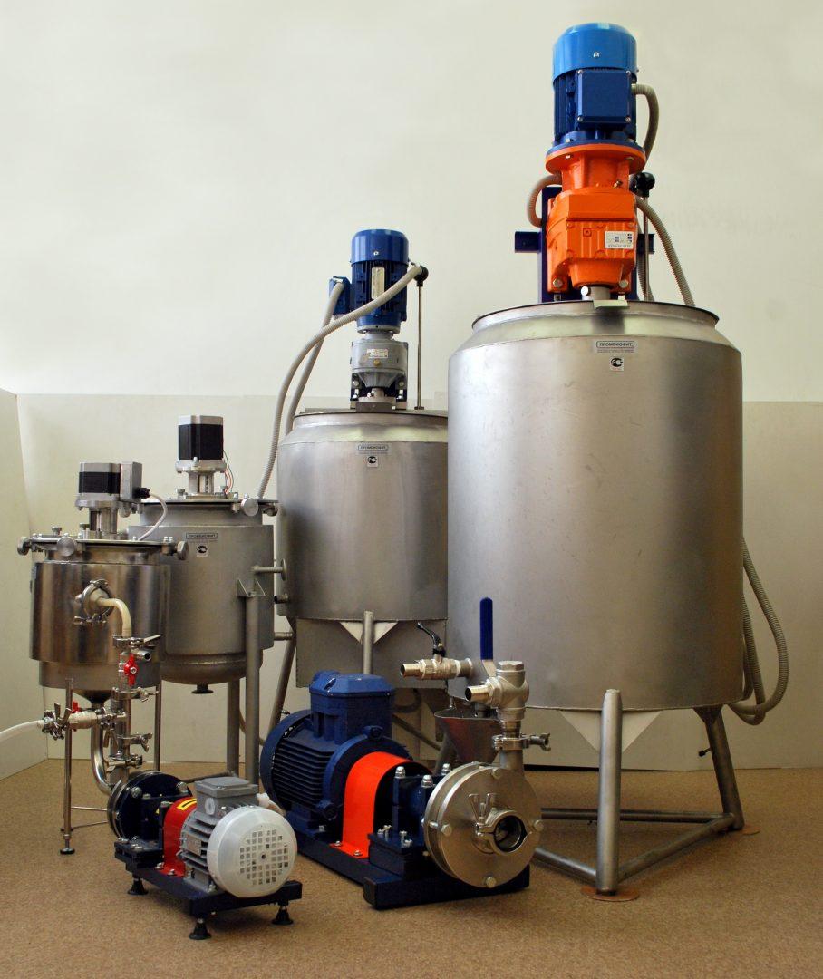 Установки УПЭС лабораторные с объемом рабочей емкости 10 и 20 л, небольшие промышленные 50 л и 100 л
