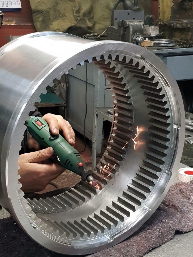 Изготовление зубчатого колеса с внутренним зубом