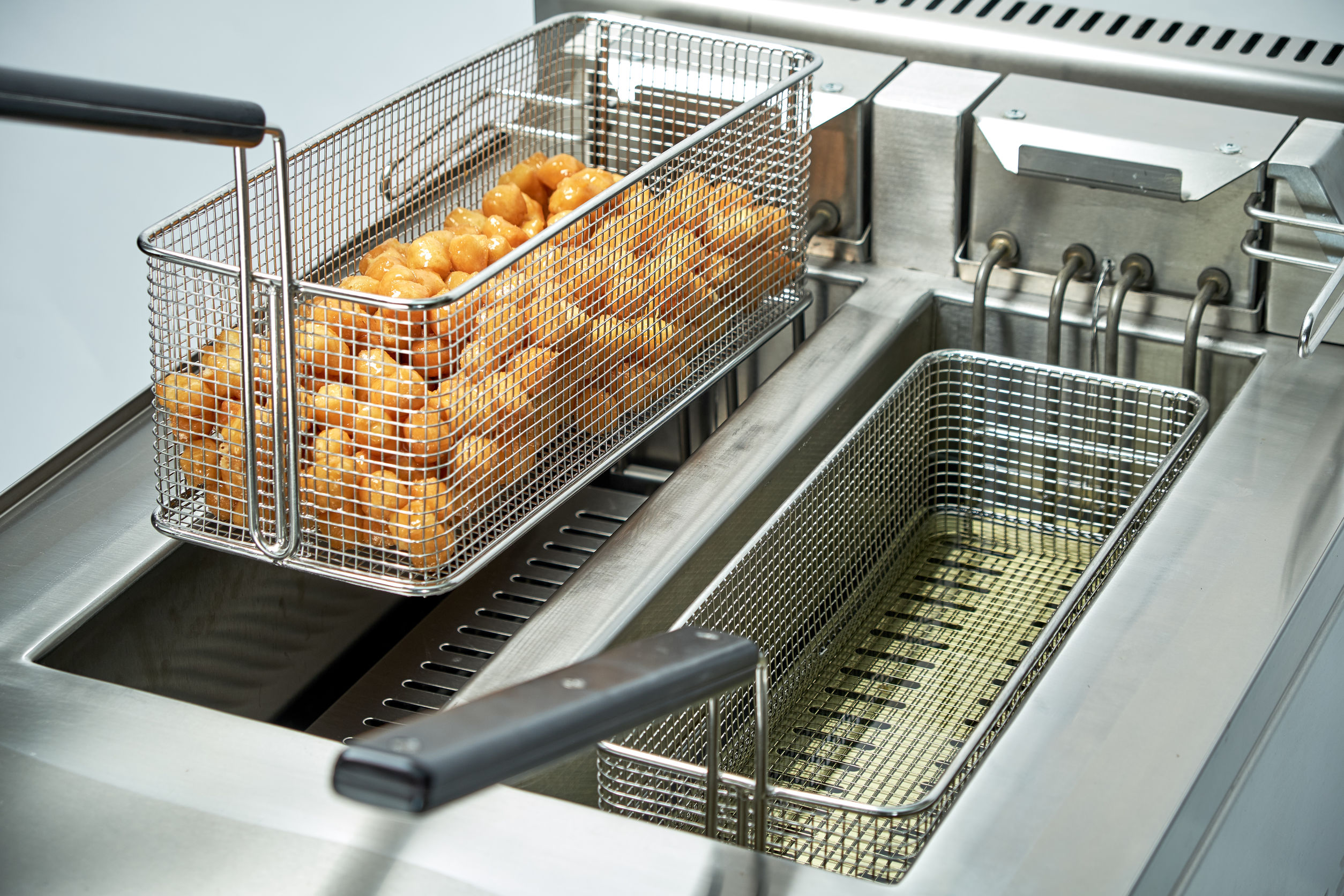 Industrial Deep Fat Catering chain. Professional kitchen equipment